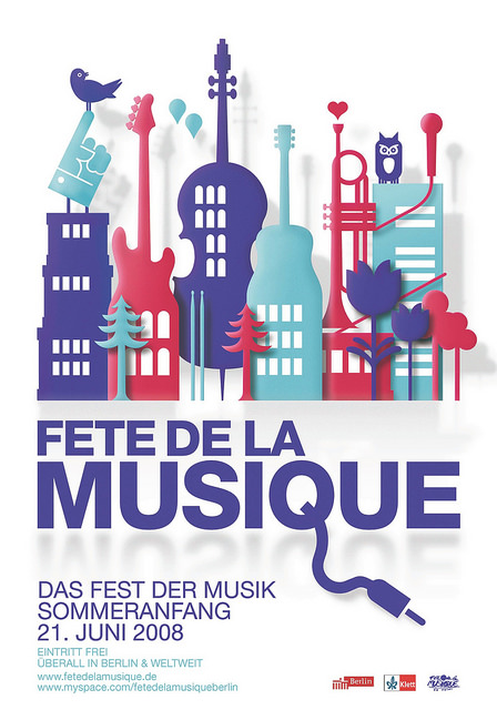 Poster für die Fête de la Musique 2008 in Berlin