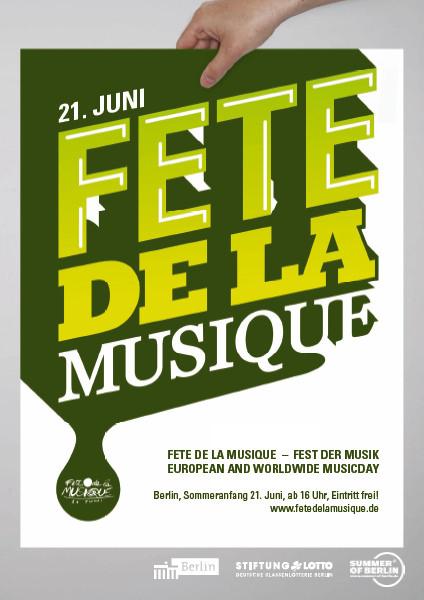 Poster der Fête de la musique 2011 Berlin