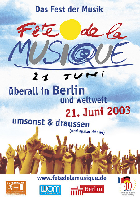 Poster für die Fête de la Musique 2003 in Berlin