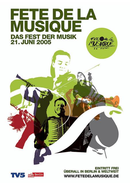 Poster für die Fête de la Musique 2005 in Berlin