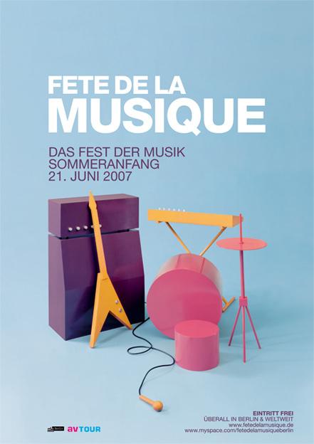 Poster für die Fête de la Musique 2007 in Berlin