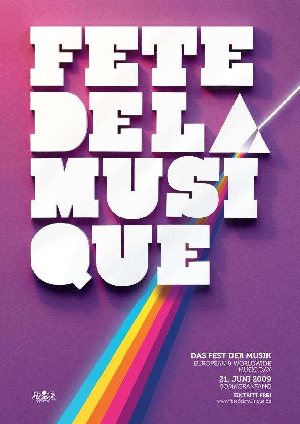 Poster für die Fête de la Musique 2009 in Berlin