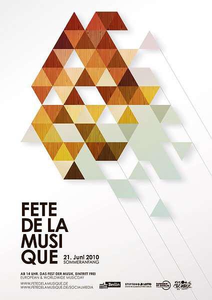 Poster für die Fêtede la Musique 2010 in Berlin