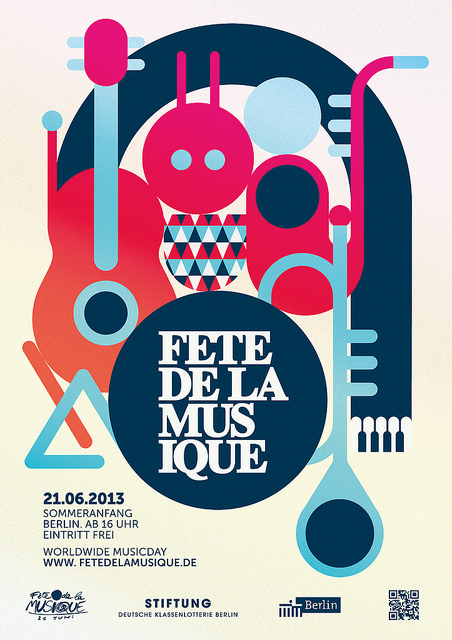 Poster für die Fête de la Musique 2013 in Berlin