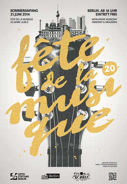 Poster für die Fete de la musique 2014 in Berlin