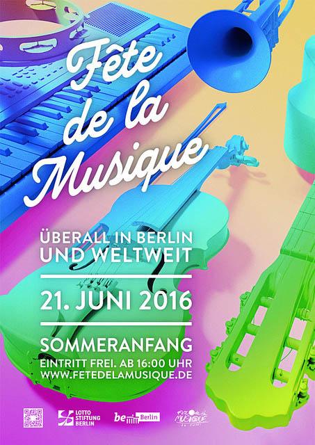 Poster der Fête de la Musique 2016 Berlin