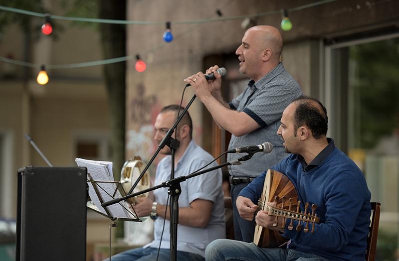"""Arabische Musiker auf der Fête de la Musique Berlin 2016 """"Habibi"""""""