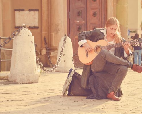 Musiker in Spanien zur Fete de la Musique