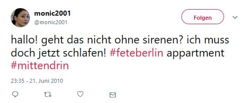 #FETEBerlin Zitat von Twitter 2017