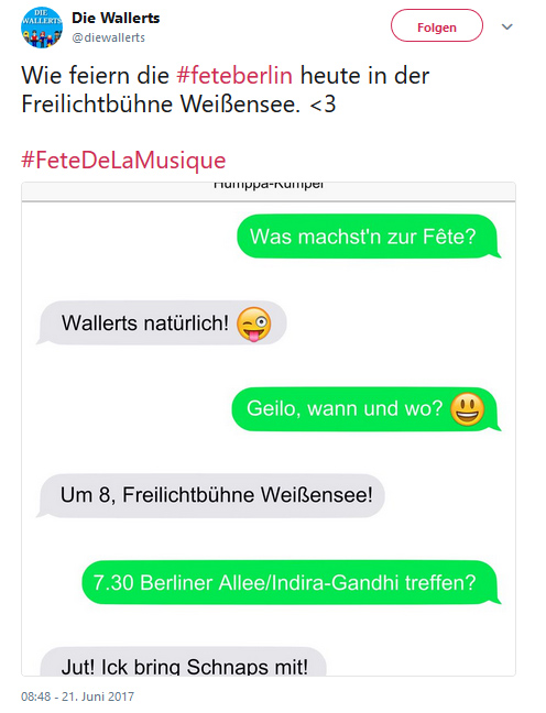 Screenshot FETEBerlin SMS