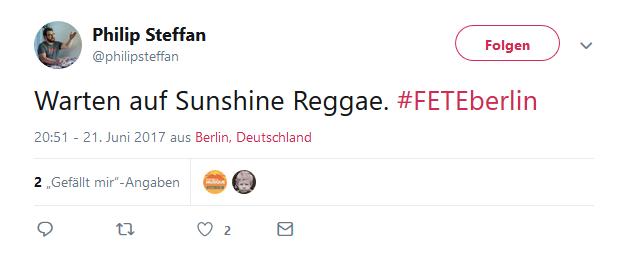Twitterperle Fete de la Musique Zitat #FETEBerlin