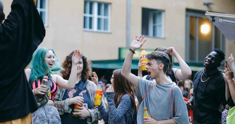 People Partying at the Fete de la Musique Köpenick
