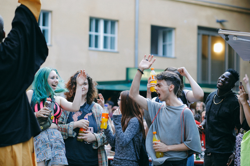 People Partying at the Fete de la Musique Köpenick