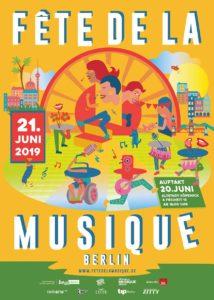 Plakat Fete de la Musique Berlin 2019